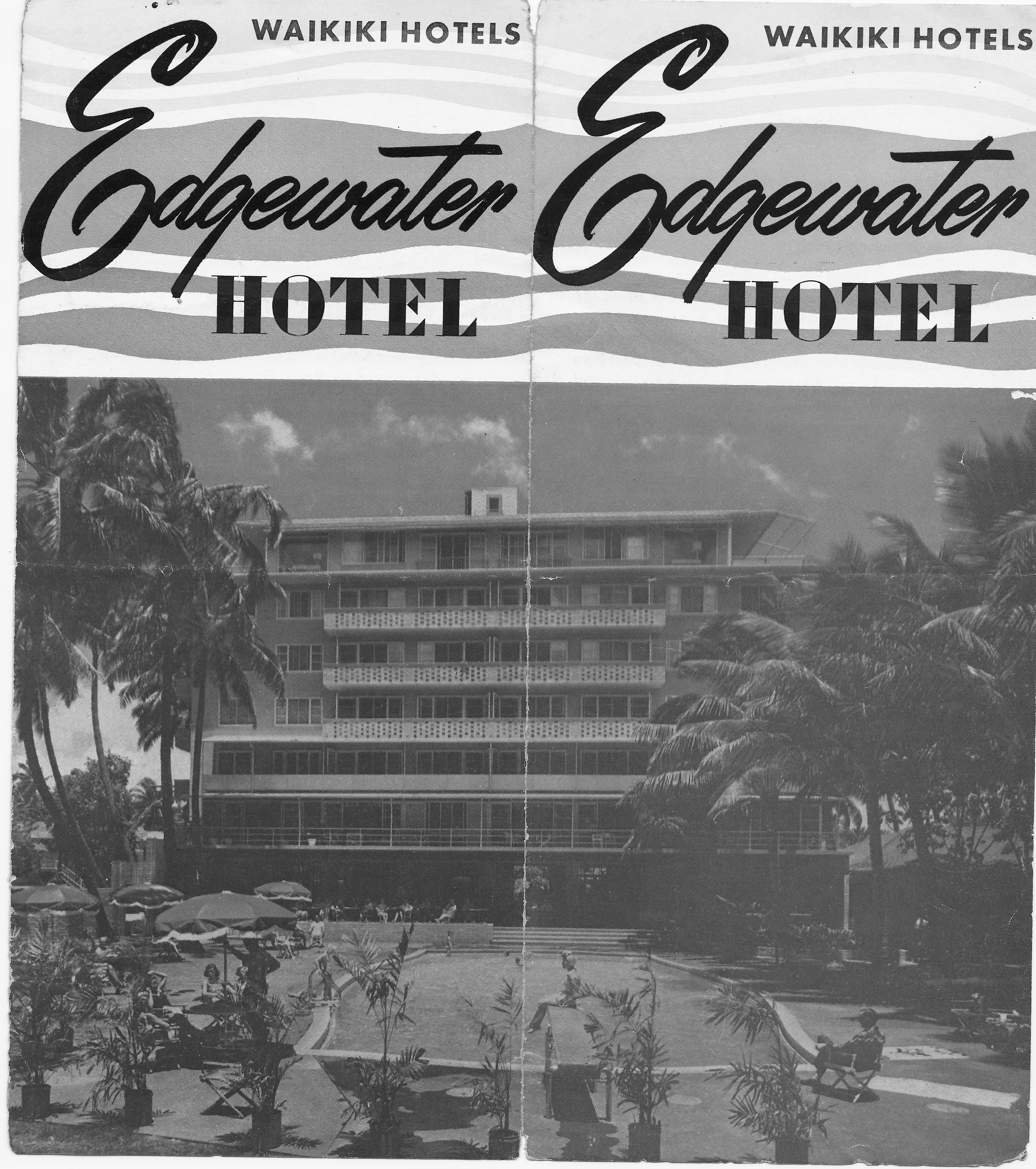 Edgewater Hotel vintage brochure, Outrigger Hotels & Resorts