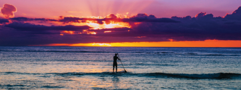 Sunset Stand Up Boarding | Hawaii Island
