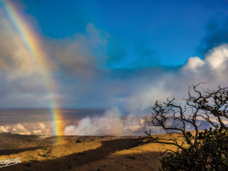 Rainbow over Hawaii Island