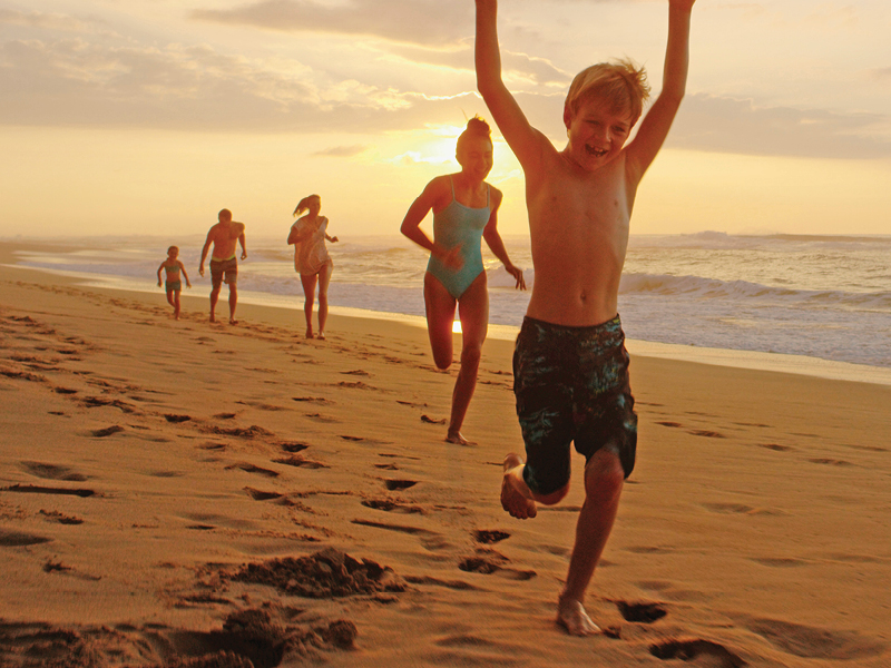 Kids on the beach | Kauai