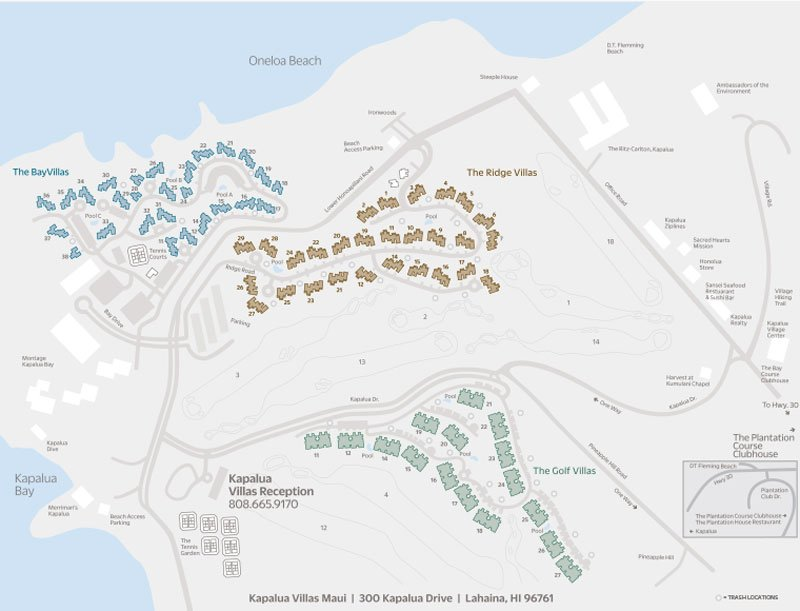 Kapalua Villas Resort Map