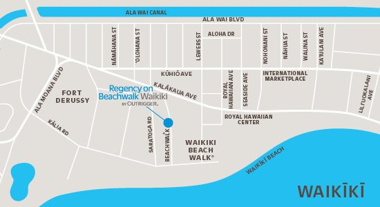 Map of Regency on Beachwalk Waikiki by Outrigger