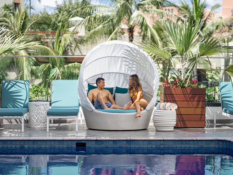 Lounge by the pool | Waikiki Beachcomber by Outrigger
