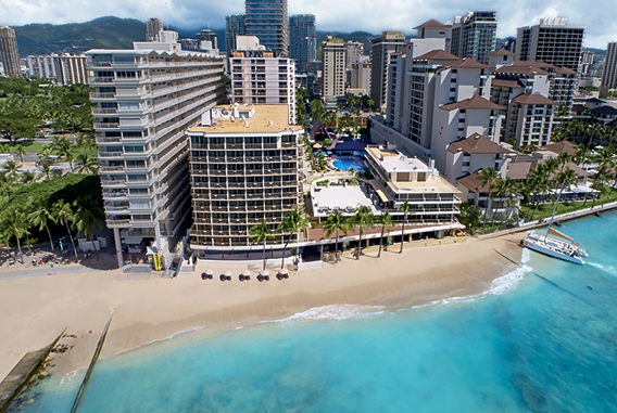 Aerial view | Outrigger Reef Waikiki Beach Resort