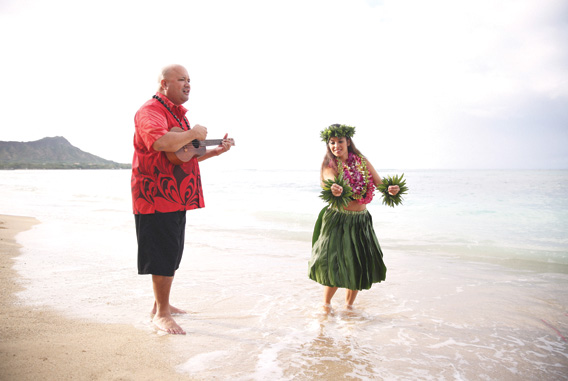 Hula on Waikiki Beach