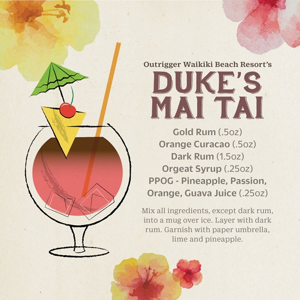 Duke's Mai Tai Recipe - Outrigger Waikiki Beach Resort