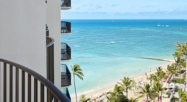 Partial Ocean View - Outrigger Waikiki Beach Resort