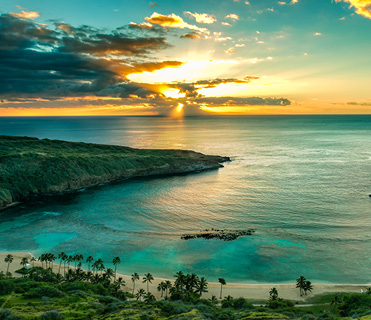 Sunrise in Hawaii