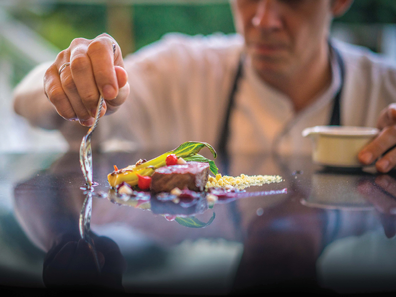 Taste Chef's creation at the Plantation Club | Outrigger Mauritius Beach Resort
