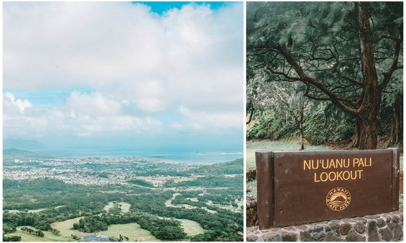 Pali Lookout View Hawaii