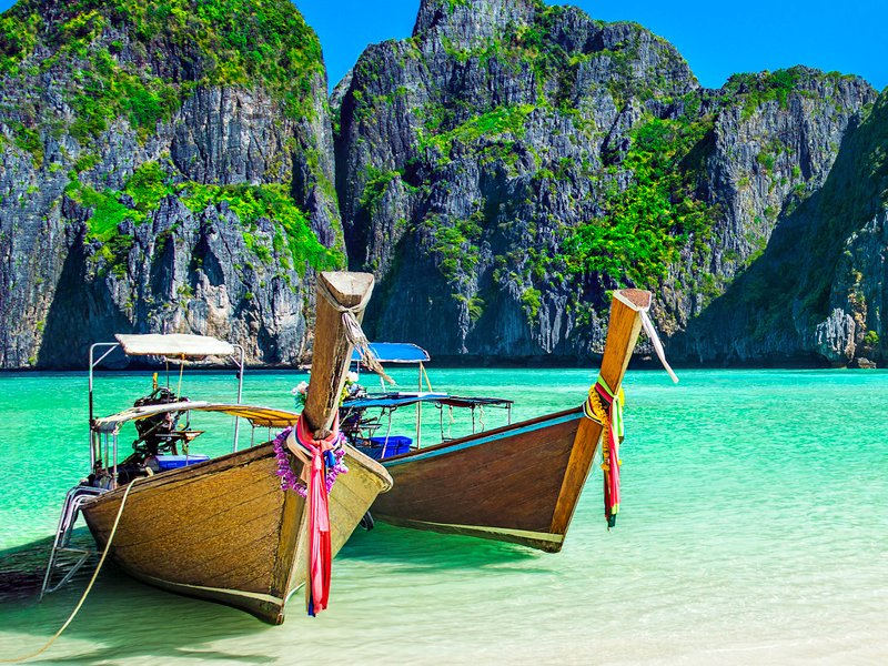 Thai Boats - Thailand Beach