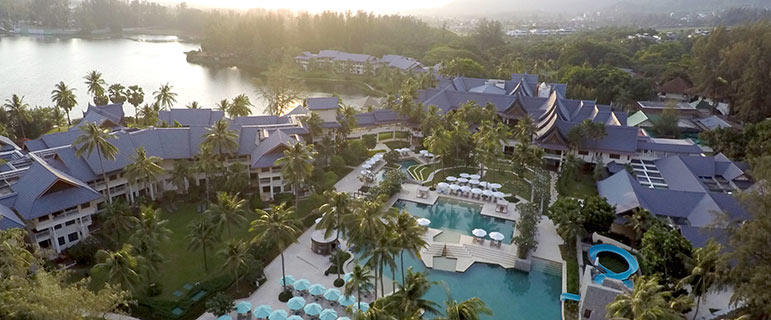 Bird's eye view of Outrigger Laguna Phuket Beach Resort