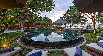 Relax at the hot tub| Outrigger Koh Samui Beach Resort