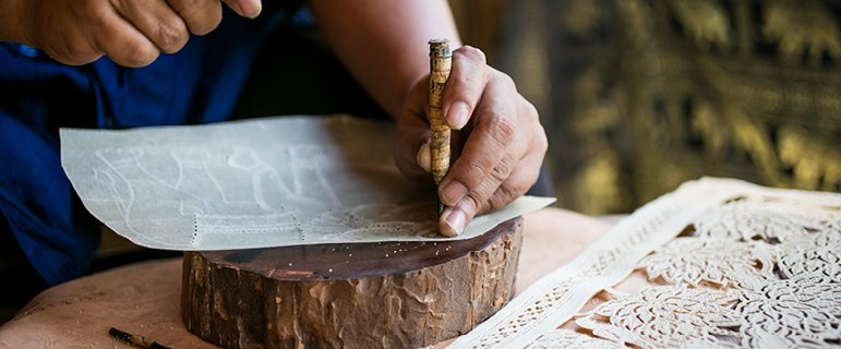 Leather Carving | Outrigger Koh Samui Beach Resort
