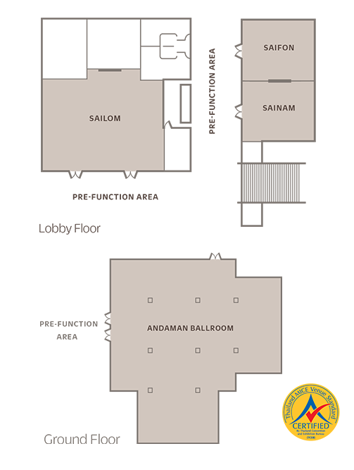 Meeting room floor plans - Outrigger Laguna Phuket Beach Resort